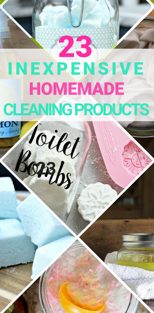23 Inexpensive Homemade Cleaning Products